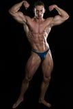 Portrait Of A Bodybuilder Isolate on Black Blackground Stock Photo