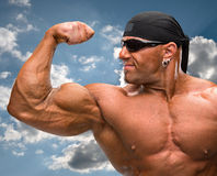 Portrait of bodybuilder Stock Photos