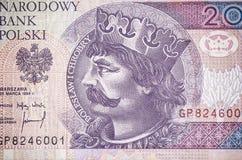 Portrait of Boleslaw Chrobry on the polish money Royalty Free Stock Photography