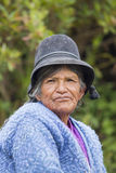 Portrait of Bolivia Woman living in Isla Del Sol, Bolivia Royalty Free Stock Photo