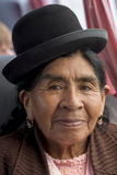 Portrait of Bolivia Woman living in Isla Del Sol, Bolivia Stock Image