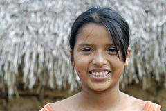 Portrait of Bolivian girl with radiant face Royalty Free Stock Photography
