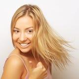 Portrait of a bond girl Stock Photos
