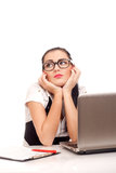 Portrait of bored business woman Stock Image