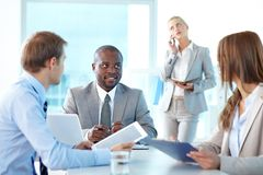Partners communicating Stock Photos