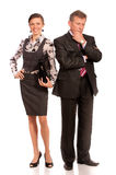 Portrait of boss and secretary Royalty Free Stock Photography