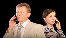 Portrait of boss and secretary Royalty Free Stock Images
