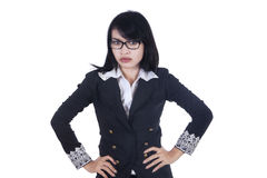 Portrait of bossy businesswoman 1 Stock Images