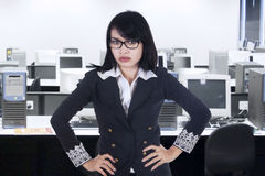 Portrait of bossy businesswoman Stock Image
