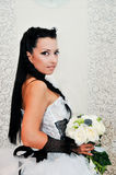 Portrait bouque of a young beautiful bride Stock Image