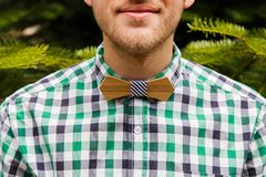 Portrait with bowtie in nature Stock Images