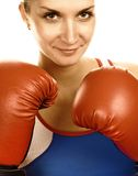 Portrait of a boxer girl Royalty Free Stock Image
