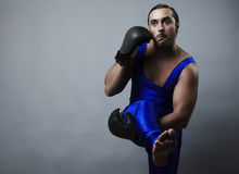Portrait of boxer stylised under olden time Royalty Free Stock Images