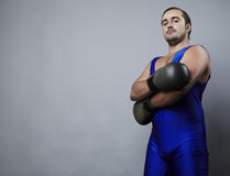 Portrait of boxer stylised under olden time Stock Photography
