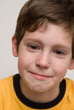 Portrait Of A Boy. Facial expression series Stock Photo