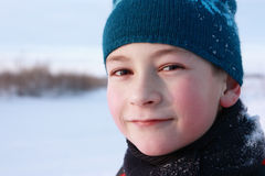 Portrait of a boy. With a cheerful expression on his face Royalty Free Stock Photography