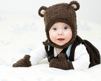Portrait of a boy. Dressed as a bear Stock Photography