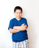 Portrait of  boy. Isolated over white background Stock Photography