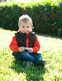 Portrait of a boy. On a background of natural Stock Photos