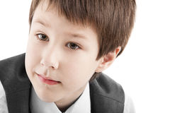Portrait of a boy. On a white background Stock Images
