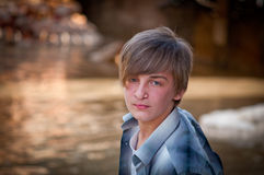 Portrait of a boy. Royalty Free Stock Image
