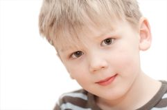 Portrait of a boy. On white background Stock Photography