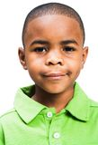 Portrait of boy. Portrait of a boy posing isolated over white Stock Photo