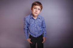 Portrait of boy adolescence European appearance Royalty Free Stock Photo