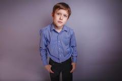 Portrait of boy adolescence European appearance Royalty Free Stock Photo