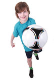 Portrait of a boy with a ball Stock Image