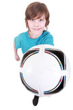 Portrait of a boy with a ball Royalty Free Stock Photography