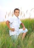 Portrait of a boy on the beach Stock Photo