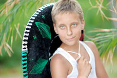 Portrait of a boy on the beach Royalty Free Stock Images