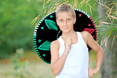 Portrait of a boy on the beach Royalty Free Stock Photo