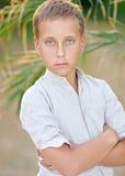 Portrait of a boy on the beach Stock Photos