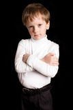 Portrait of the boy on a black background Royalty Free Stock Images
