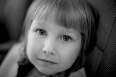 Portrait of boy in black and white Royalty Free Stock Images