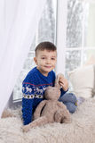 Portrait of a boy in a blue sweater Royalty Free Stock Photography