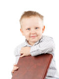 Portrait of a Boy with Book Royalty Free Stock Photography