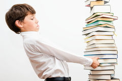 Portrait of a boy with books. Stock Photography