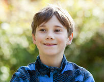 Portrait of a Boy with Brown Hair Royalty Free Stock Images