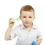 Portrait of boy without bubble soap Royalty Free Stock Image