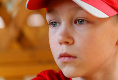 Portrait the boy in a cap Royalty Free Stock Images