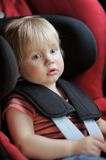 Portrait of boy in car seat Royalty Free Stock Images