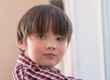 Portrait of a boy closeup stock photography