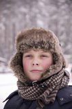 Portrait of a boy in the cold Stock Photography