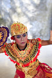 Portrait of the boy in dance. Bali, Indonesia - July 04, 2010: Portrait of dancing boy, ages 10 years old, in national clothes. Traditional daily representation royalty free stock photos
