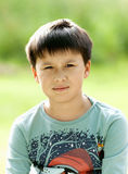 Portrait of a Boy with Dark Hair Stock Images