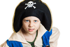 Portrait of a boy dressed as pirate Stock Images