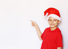 Portrait of a  boy dressed as Santa Royalty Free Stock Images